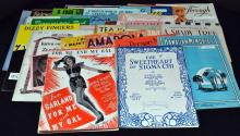 Vintage Sheet Music of Songs from 1912-1920