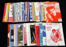 Vintage Sheet Music From 1950's-1980's