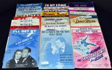 Vintage 1930's & 1940's Military Sheet Music