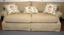 4-Cushion Sofa w/Large Rolled Arms