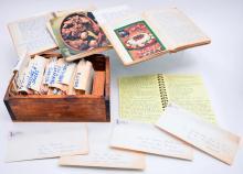 Recipe Box & Hand Written Recipes in French