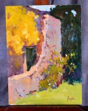Impressionistic Oil on Board by Susan F. Greaves
