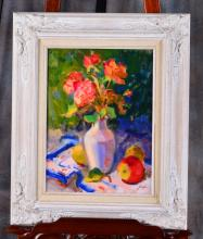 Still Life Oil on Canvas by Susan F. Greaves
