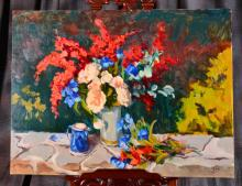Impressionistic Oil on Canvas by Susan F. Greaves