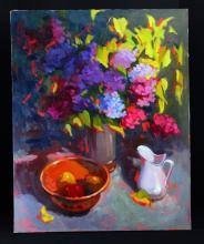 Unframed Still Life Oil on Canvas
