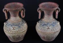 Pair Ceramic Urns