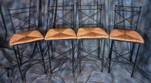 4 Decorative Metal Barstools