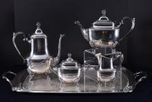 Silverplate Rogers Bro. Daffodil Tea Set