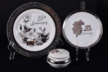 Japanese Chatillon 25th Anniversary Porcelain Set