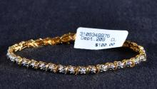 Vintage Vermeil Bracelet w/Diamond Accents