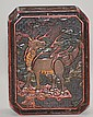 Chinese Carved Lacquer Box-Kirin