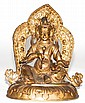 Nepalese Gilt Bronze Seated Buddha
