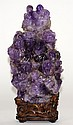 Chinese Carved Amethyst Figural Group