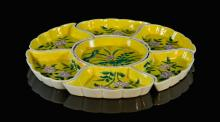 Set of Chinese Famille Juan Porcelain Condiment Dishes