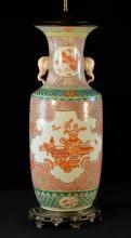 Large Chinese Porcelain Vase with Elephant Ear