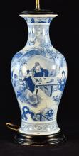Chinese Blue White Porcelain Lamp