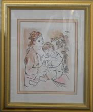 Lithograph Numbered - Picasso Signed in the Plate