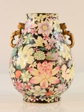 Chinese Milifloral Porcelain Vase with Hongxuan Mark
