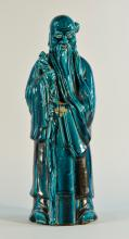 Chinese Turquois Porcelain Shoulao Figurine