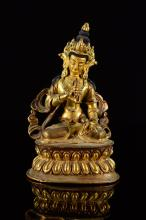 Nepalese Seated Gilt Bronze Tara