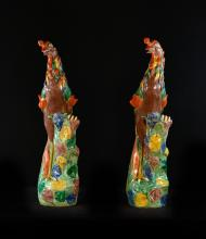 Pair of Large Chinese Porcelain Phoenix