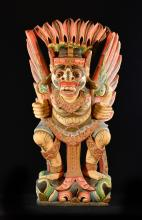 Bali Southeast Asia Carved Wood Guardian