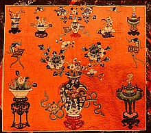 Chinese Red Embroidery, Precious Objects