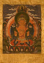 Tibetan Thangka of Seated Tara