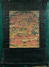 Tibetan Thangka- Red Guardian