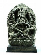 Rare Tibetan Carved Stone Kuanyin
