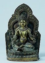Tibetan Bronze Repousse Tara