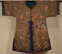 Chinese Brown Embroidery Robe
