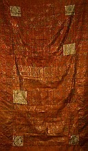 Chinese Qing Monk Silk Fabric Panel