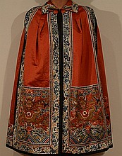 Chinese Red Embroidery Lady Robe