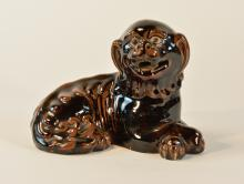 Chinese Porcelain Foolion with Brown Glaze