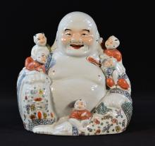 Chinese Porcelain Famille Rose Porcelain Buddha