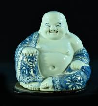 Chinese Blue White Porcelain Hotei