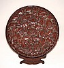Chinese Carved Lacquer Dish