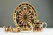 A Royal Crown Derby Old Imari miniature tea set, no.1128.