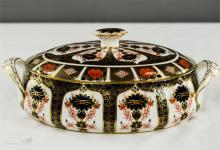 A Royal Crown Derby Traditional Imari covered vegetable dish, 12 ins wide.