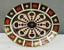 A Royal Crown Derby Old Imari oval platter, 12 by 15ins.