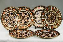 A set of six Royal Crown Derby Old Imari 9 inch plates Rn No 710699.