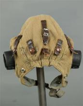 An RAF WWII tropical flying helmet.