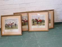 A set of four limited edition race horse prints; Isinglass 161/400, Ormonde