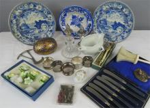 A miscellaneous quantity to include two Italian blue and white plates, a si