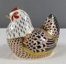 A Royal Crown Derby hen in the Old Imari pattern.