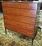 Mid Modern 5 Drawer Dresser