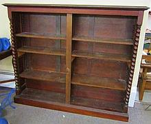 Open Bookcase with Twist Columns