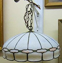 Satin Glass / Leaded Domed Fixture