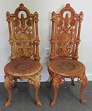 Pair Cast Iron Garden Chairs